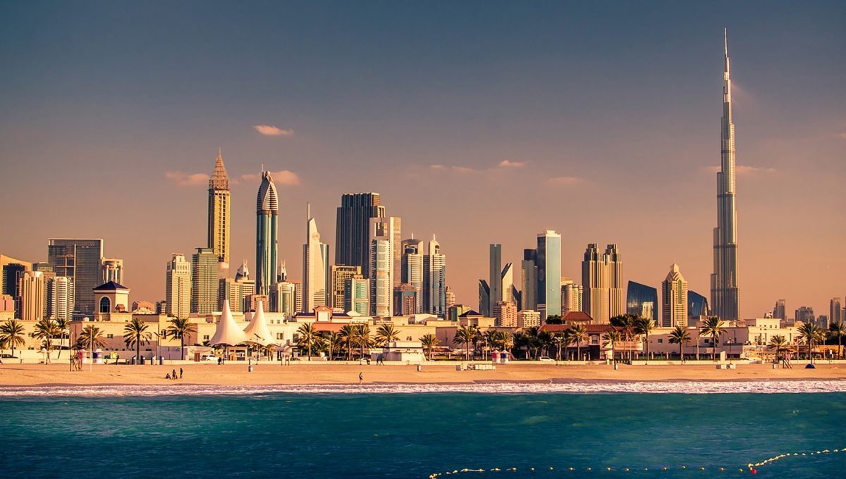 Skyline Downtown in Dubai, United Arab Emirates